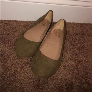 Suede Army Green mix no. 6 flats!!!